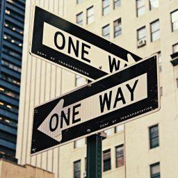 One Way Verkehrschilder