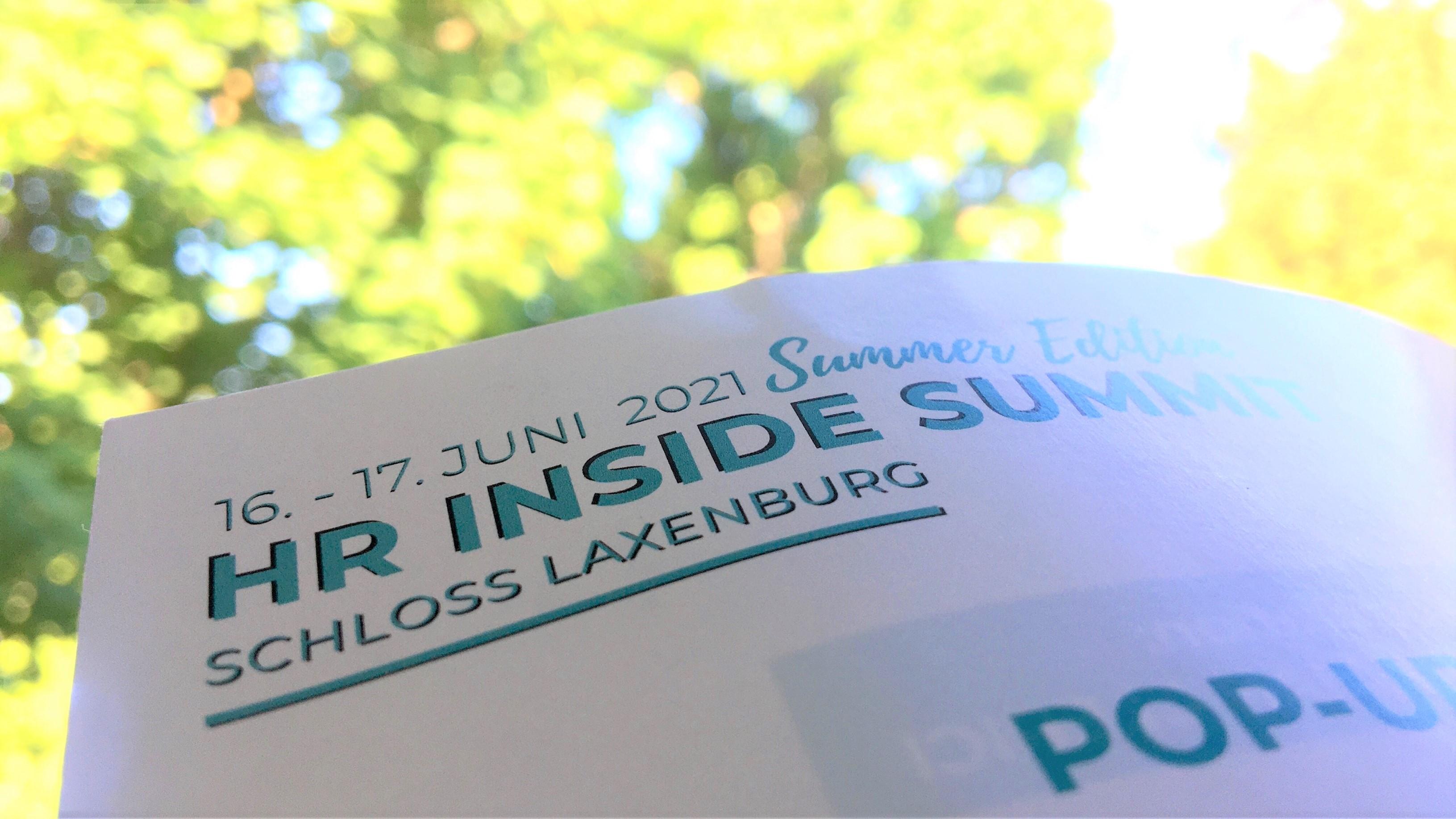 HR Inside Summit Summer Edition Programm